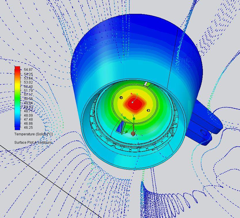 Simulación térmica con Simcenter FLOEFD.